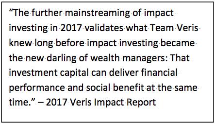 Veris 2017 Impact Report